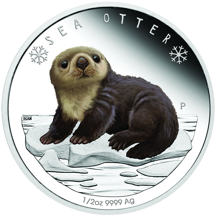 2017 Australian Polar Babies Sea Otter 1/2oz Silver Proof Coin