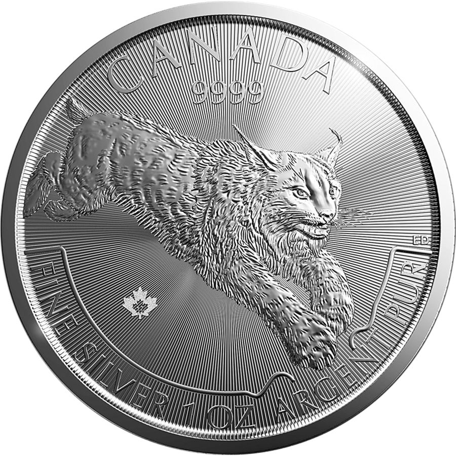 Pre-Owned 2017 Canadian Lynx 1oz Silver Coin - VAT Free