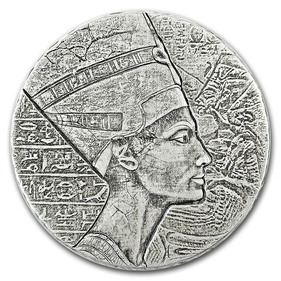 2017 Egyptian Relic 5oz Republic of Chad Queen Nefertiti Silver Coin