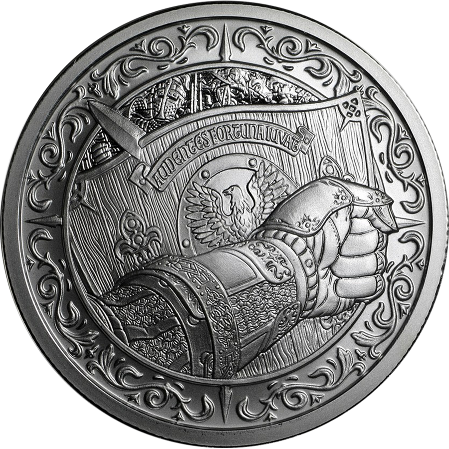 Destiny Knight Shield 2oz Silver Round Collectable Bullion
