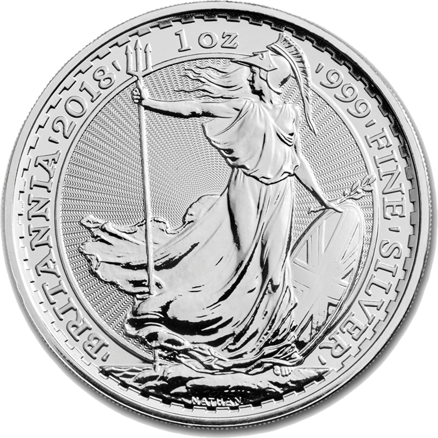 2018 UK Britannia 1oz Silver Coin