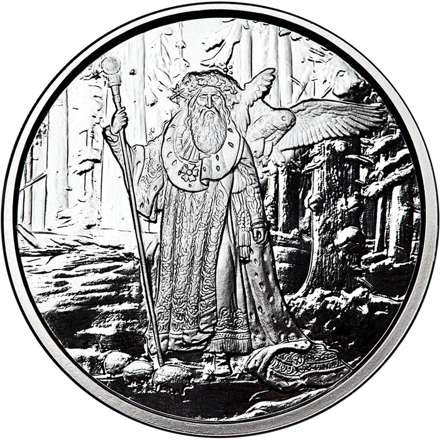 Celtic Lore: Merlin 5oz Silver Proof Round