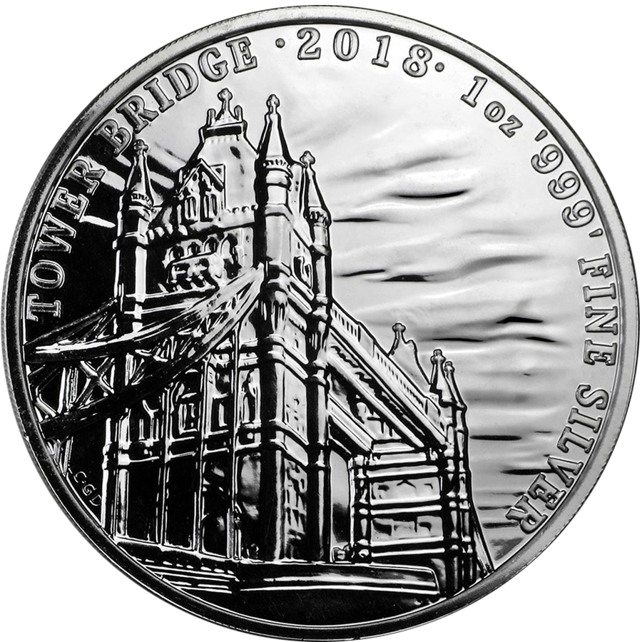 2018 UK Landmarks of Britain Tower Bridge 1oz Silver Coin