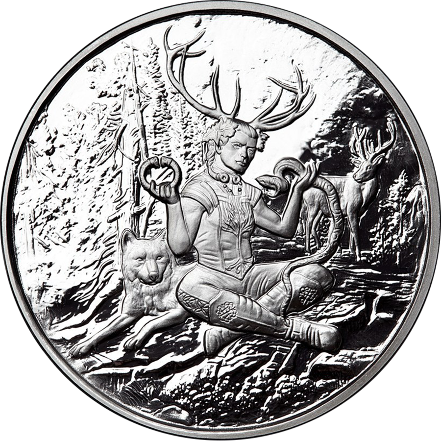 Celtic Lore: Cernunnos 1oz Silver Proof Round