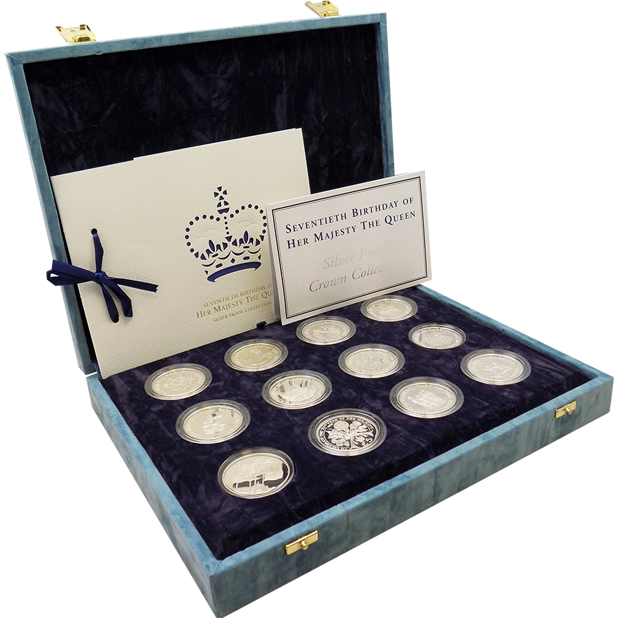 Pre-Owned 1996 The Queen's 70th Birthday Silver Proof 12-Coin Collection - VAT Free