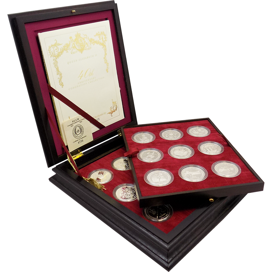 Pre-Owned 1993 40th Anniversary of Coronation Silver Proof 18-Coin Collection - VAT Free