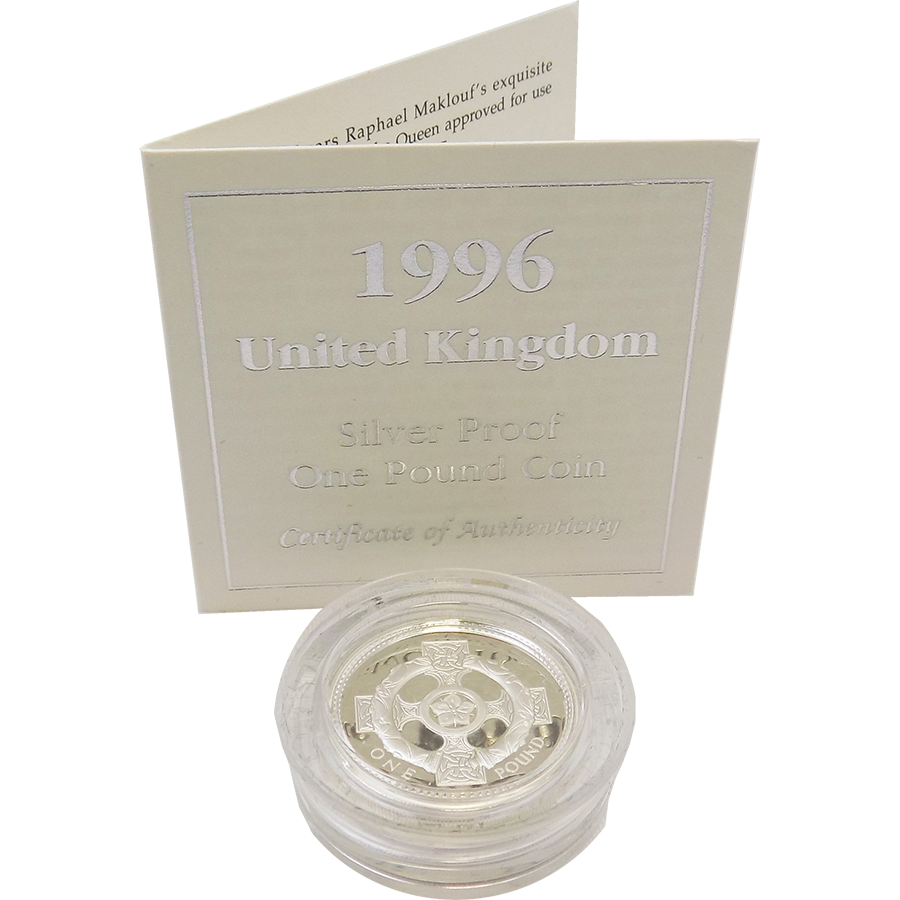 Pre-Owned 1996 UK £1 Proof Design Silver Coin - VAT Free