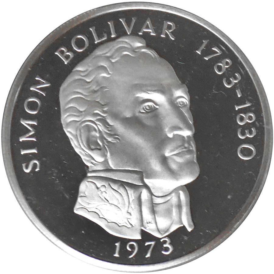 1973 Panama 20 Balboas Proof Silver Coin Atkinsons Bullion
