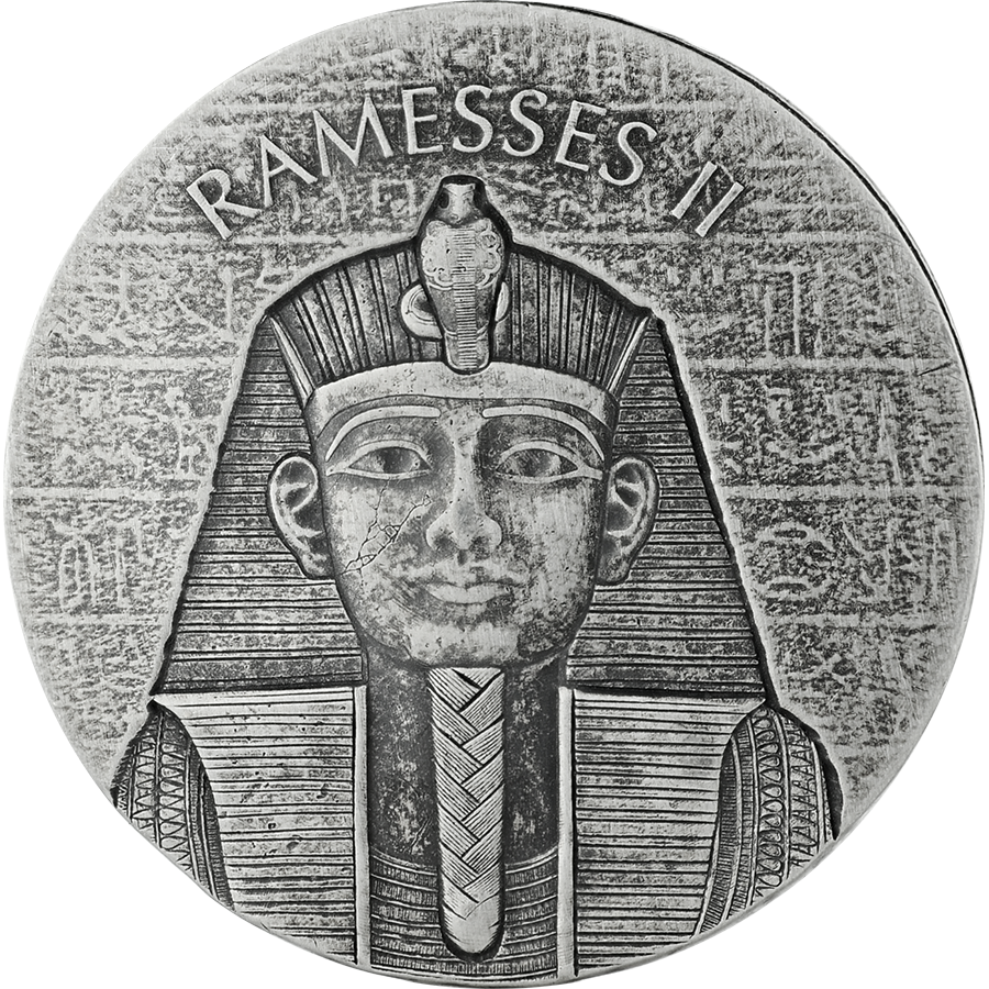 2017 Republic of Chad Ramesses II 2oz Silver Coin