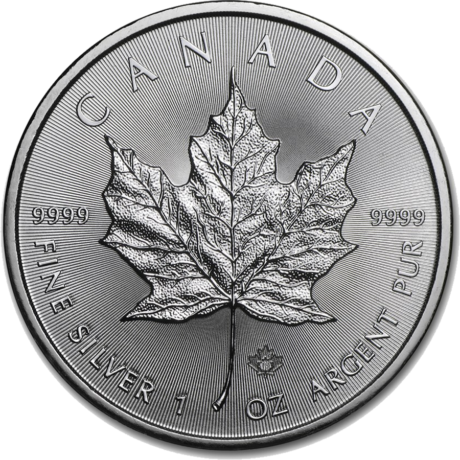 2018 Canadian Maple 1oz Silver Coin (Image 1)
