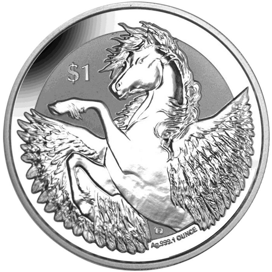 2018 British Virgin Islands Reverse Pegasus 1oz Silver Coin