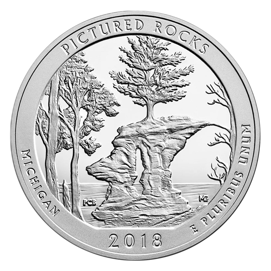 2018 ATB Pictured Rocks National Lakeshore 5oz Silver Coin
