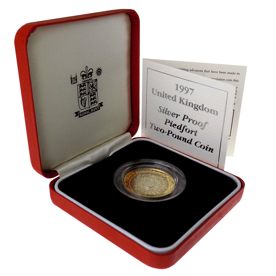 Pre-Owned 1997 UK Piedfort Proof £2 Silver Coin - VAT Free