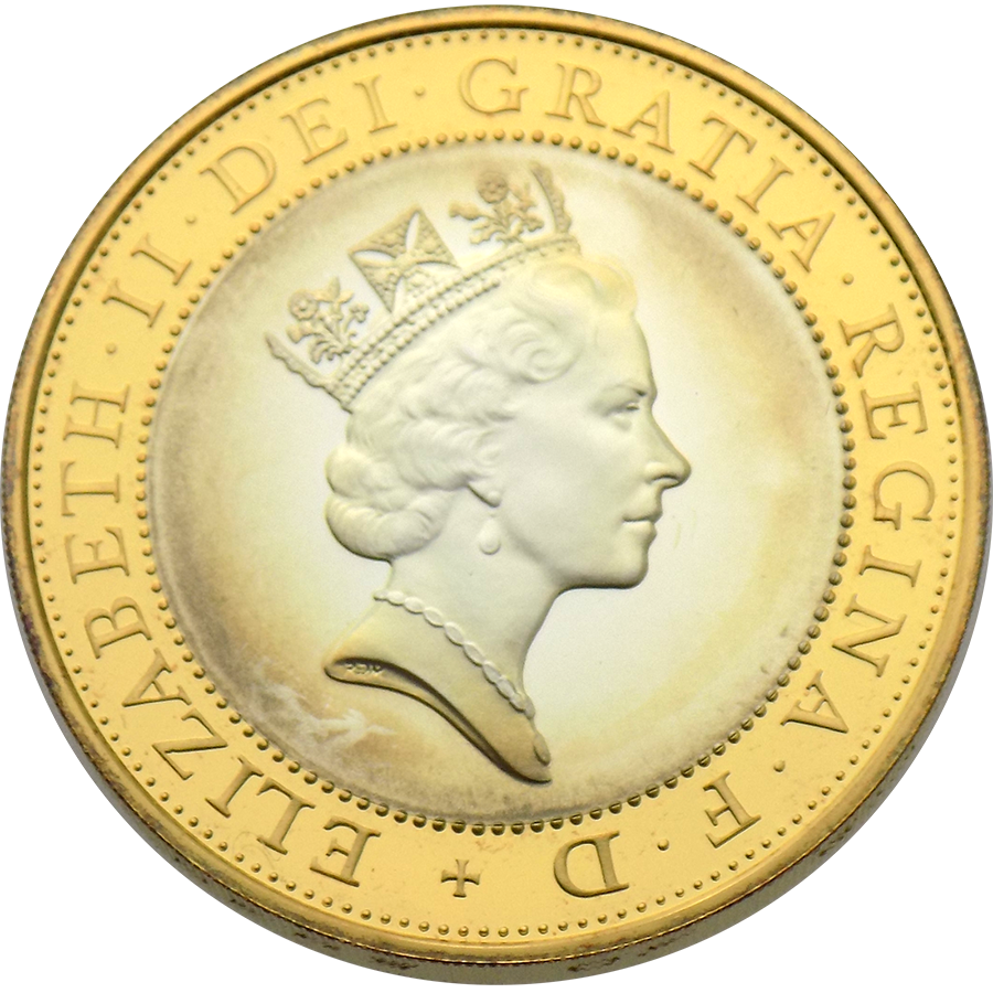 Pre-Owned 1997 UK Piedfort Proof £2 Silver Coin - VAT Free (Image 3)