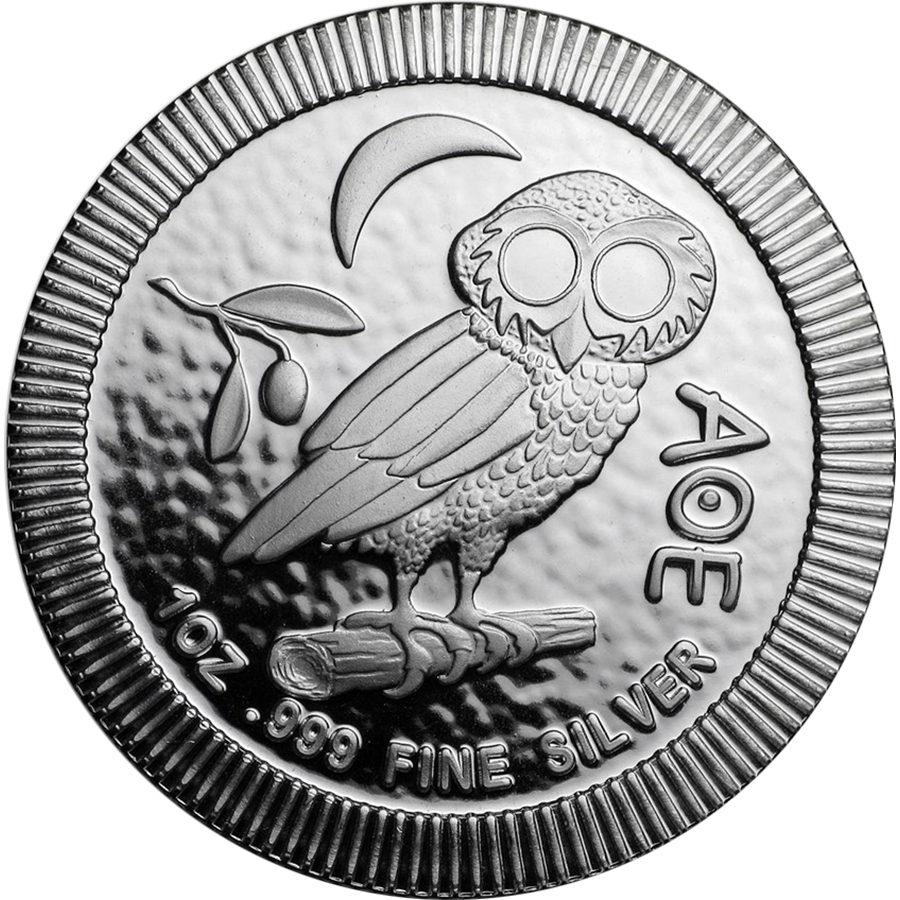 2018 Niue Athenia Owl 1oz Silver $2 Stackable Coin