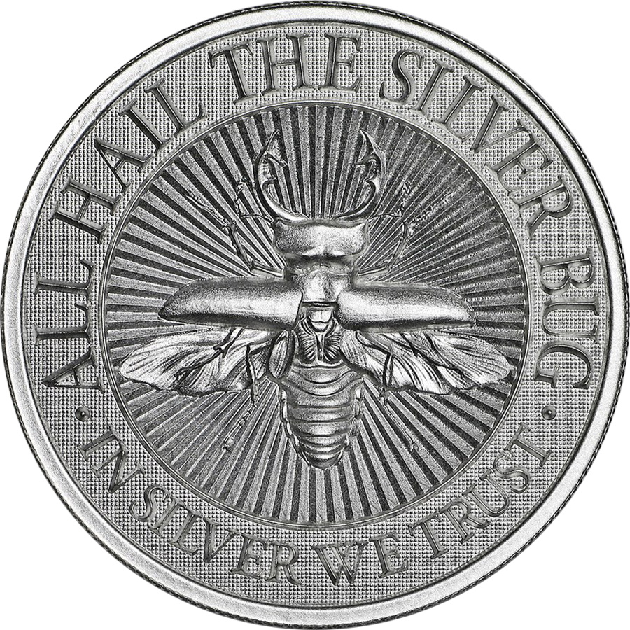 UHR The Silver Bug: Stag Beetle 2oz Silver Round