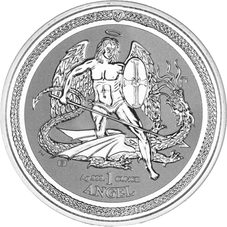 Pre-Owned 2016 Isle of Man Angel Reverse Proof 1oz Silver Coin - VAT Free