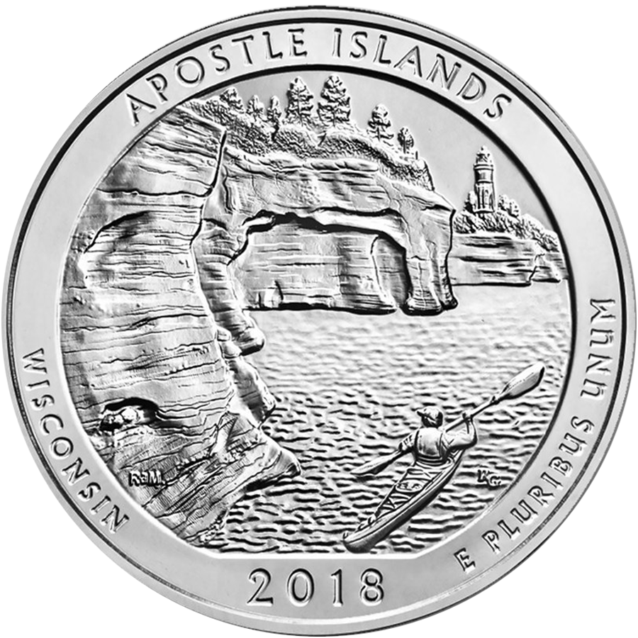 2018 ATB Apostle Islands National Lakeshore 5oz Silver Coin