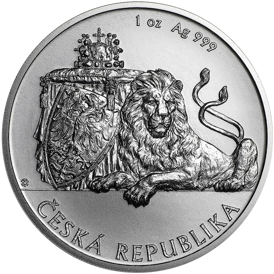 2018 Niue Czech Lion 1oz Silver Coin