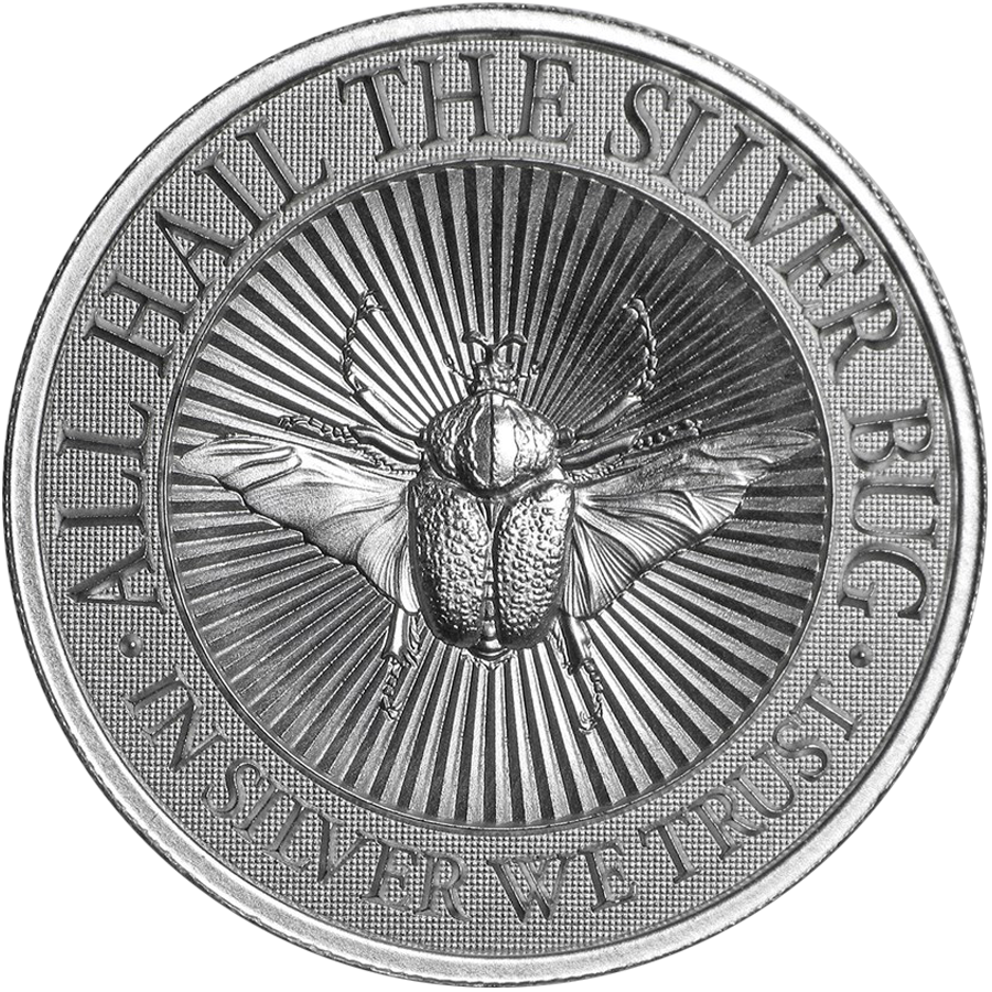 UHR The Silver Bug: Goliath Beetle 2oz Silver Round