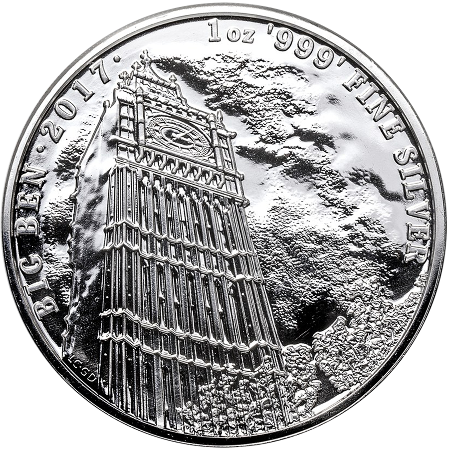 Pre-Owned 2017 UK Landmarks of Britain Big Ben 1oz Silver Coin - VAT Free