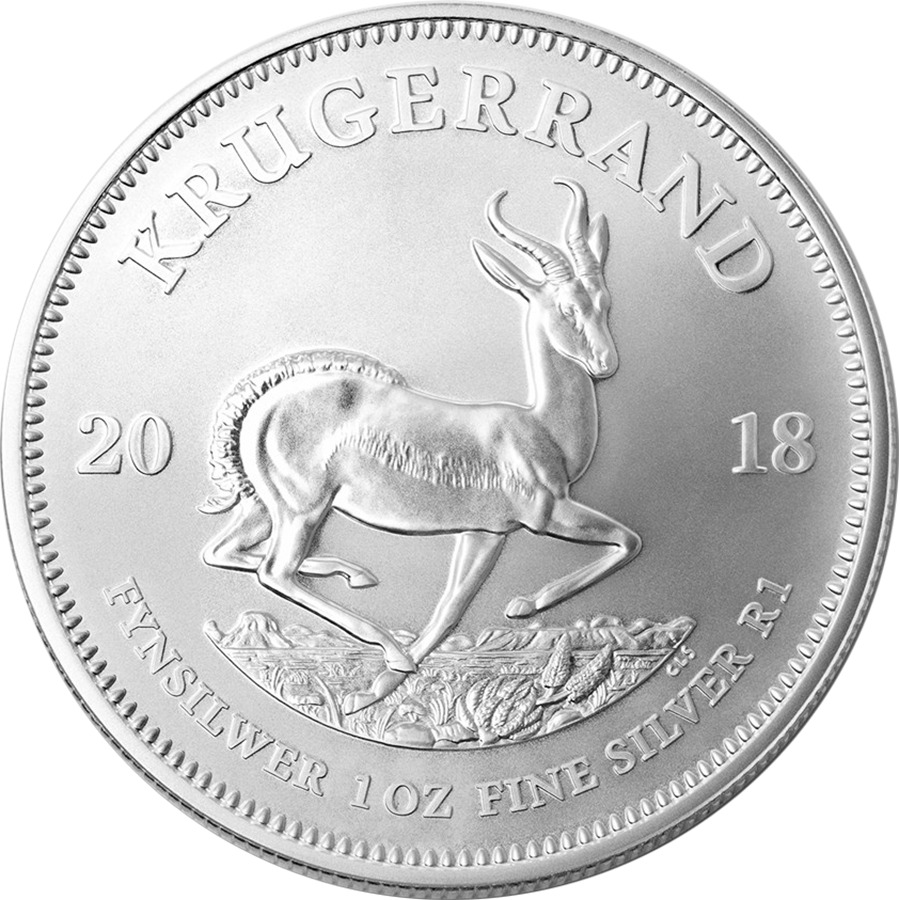 2018 South African Krugerrand 1oz Silver Coin (Image 1)