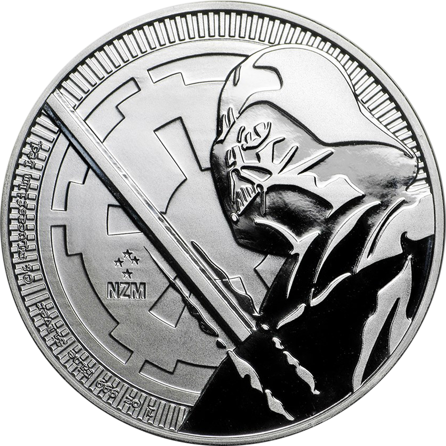 2018 Niue Star Wars Darth Vader Lightsaber 1oz Silver Coin