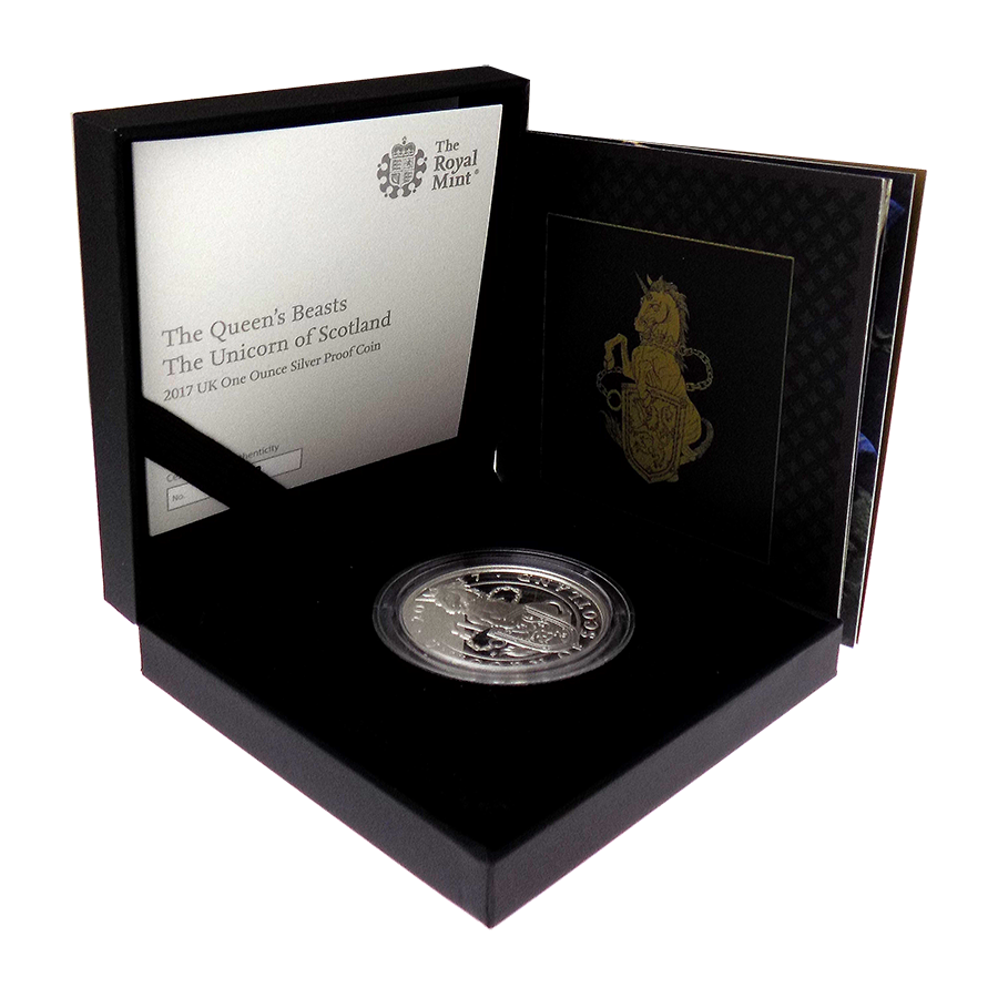 Pre-Owned 2017 UK Queen's Beasts The Unicorn 1oz Silver Proof Coin - VAT Free