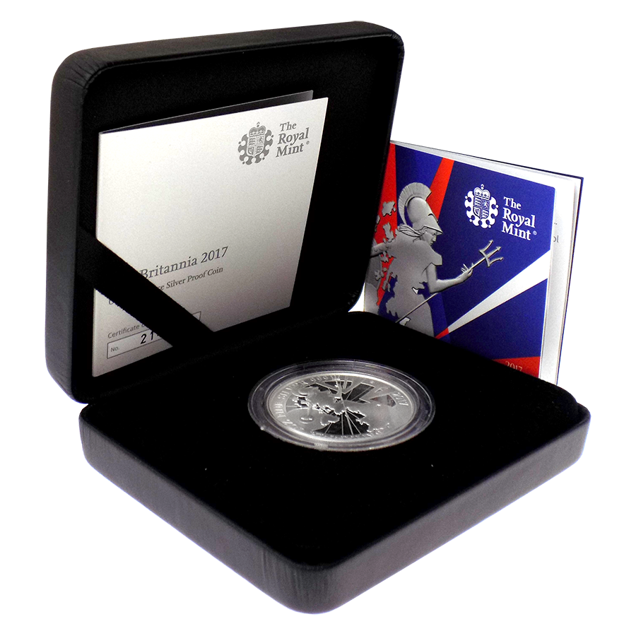 Pre-Owned 2017 UK Britannia 1oz Silver Proof Coin - VAT Free