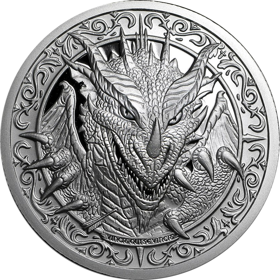 Pre-Owned Destiny Knight - The Dragon 2oz Silver Round (Image 1)