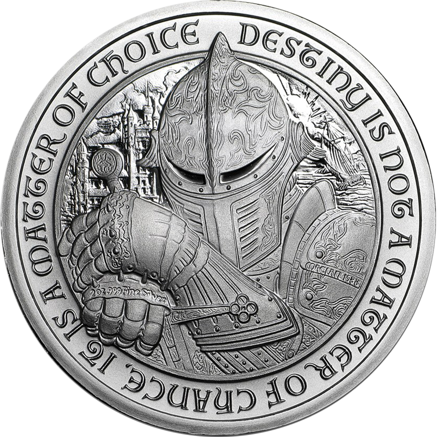 Pre-Owned Destiny Knight - The Dragon 2oz Silver Round (Image 2)