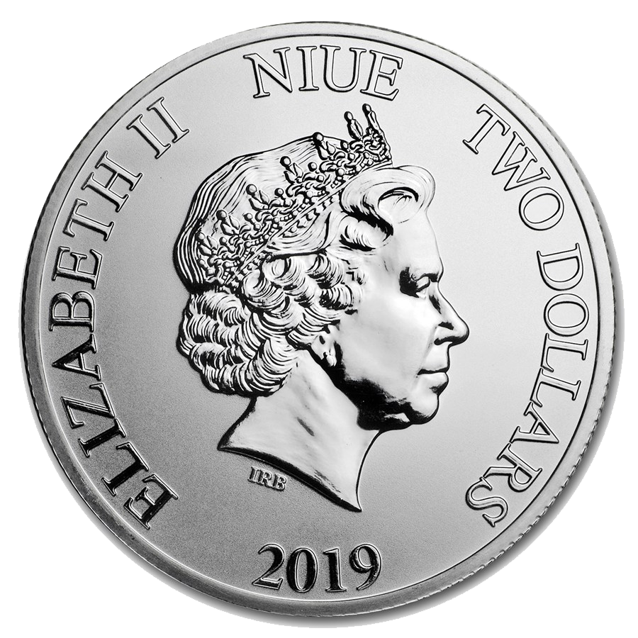 2019 Niue Hawksbill Turtle 1oz Silver Coin (Image 2)