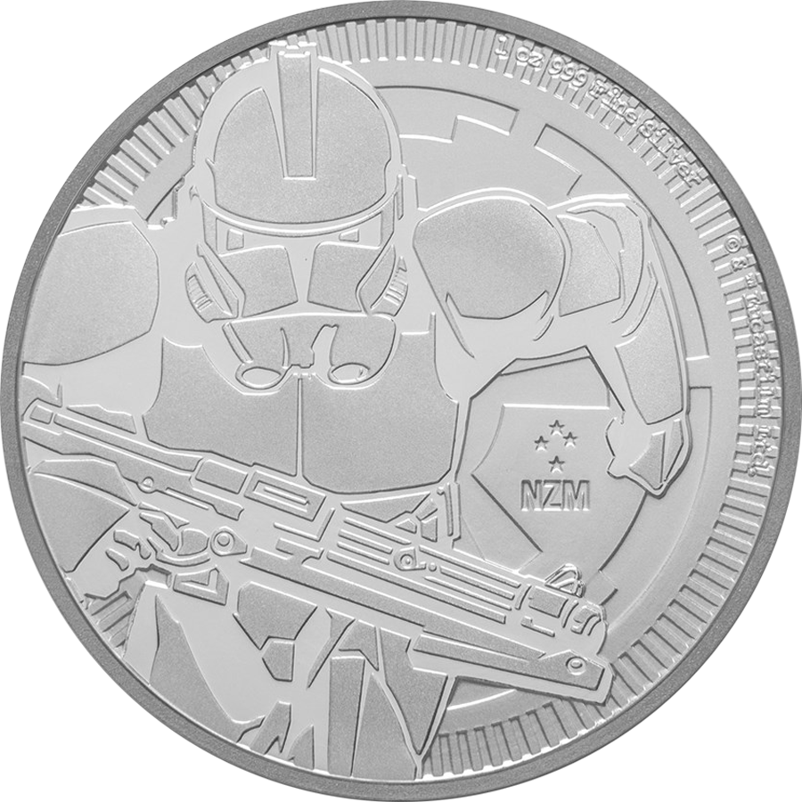 2019 Niue Star Wars Clone Trooper 1oz Silver Coin (Image 1)