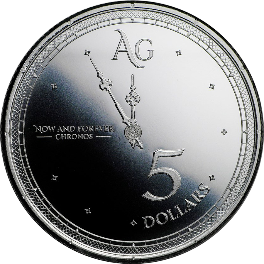 2019 Tokelau Chronos 1oz Silver Coin