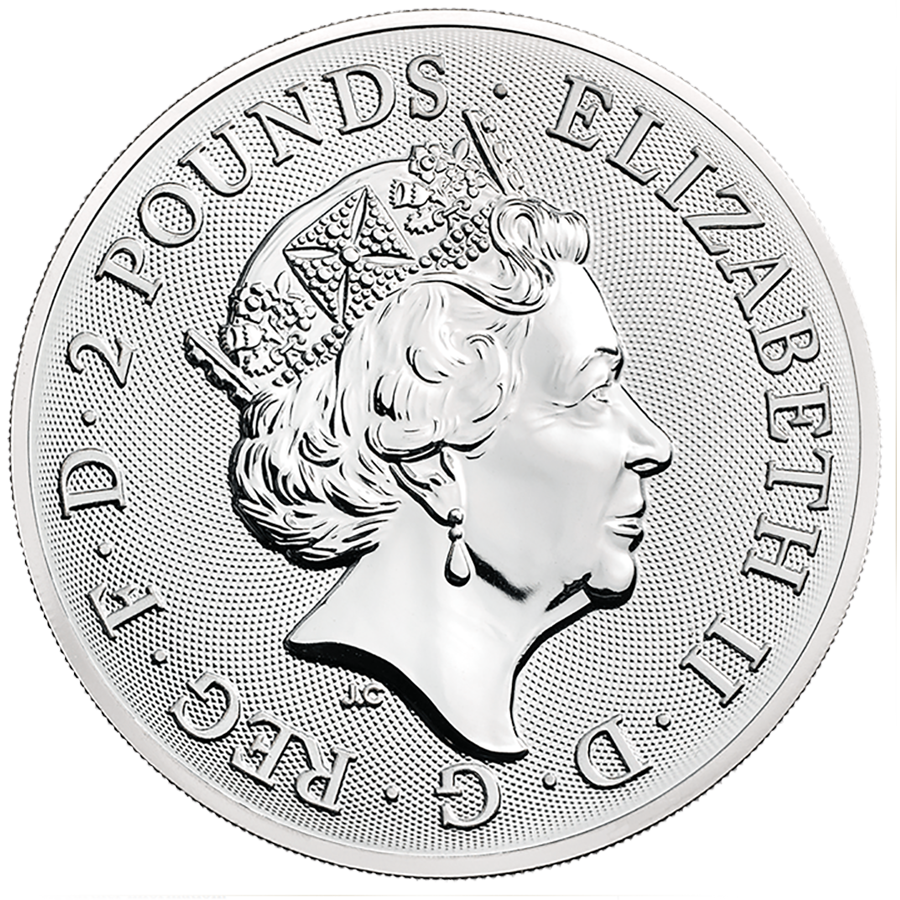 2019 UK Landmarks of Britain Buckingham Palace 1oz Silver Coin (Image 2)