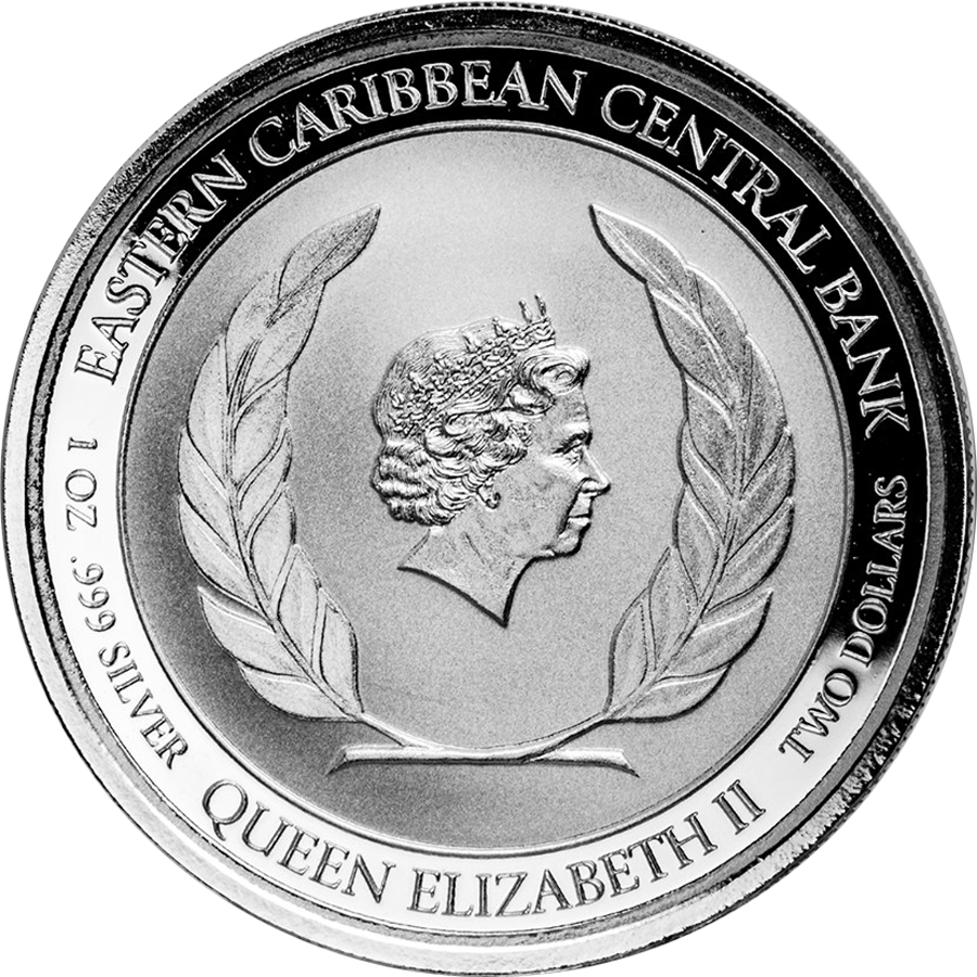 2018 Montserrat Emerald Isle of the Caribbean 1oz Silver Coin (Image 2)