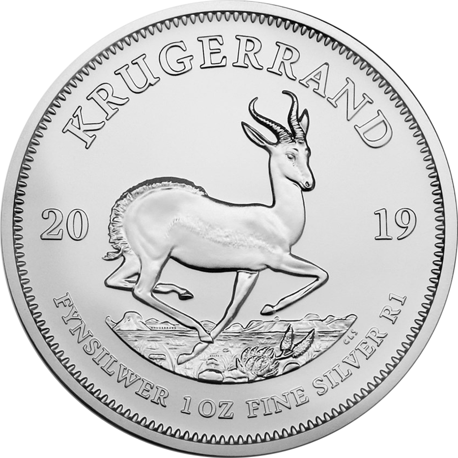 2019 South African Krugerrand 1oz Silver Coin