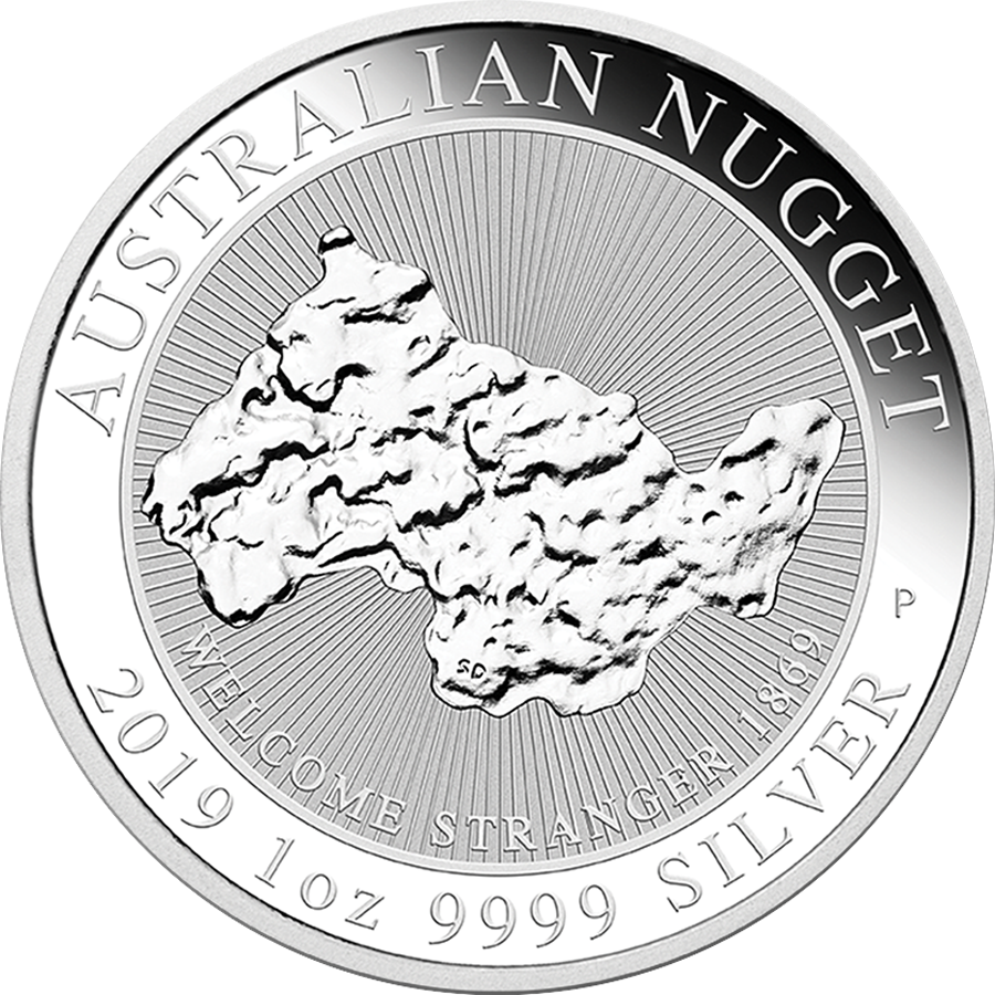 2019 Australian Welcome Stranger Nugget 1oz Silver Coin