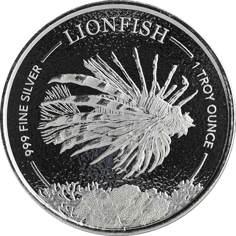 2019 Barbados Lionfish 1oz Silver Coin