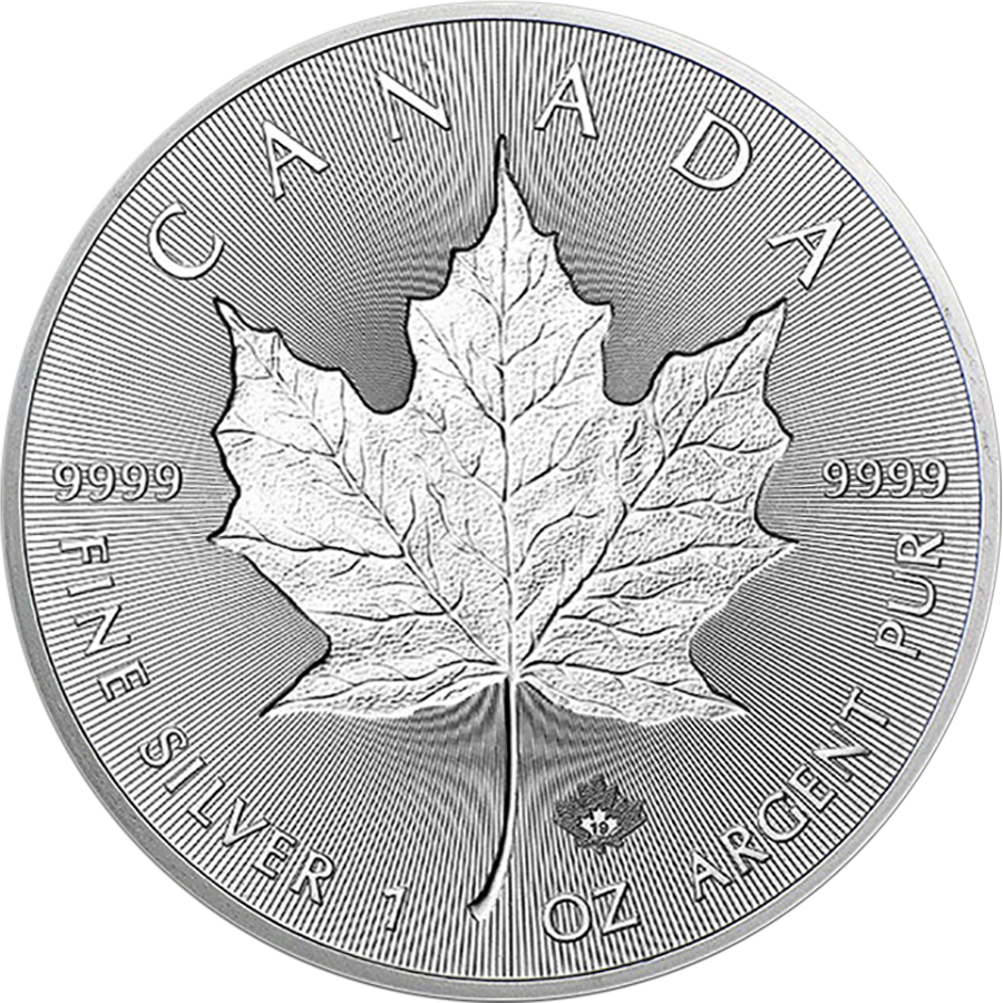 2019 Canadian Incuse Maple Leaf 1oz Silver Coin
