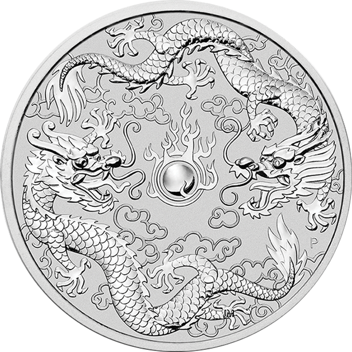 2019 Australian Double Dragon 1oz Silver Coin (Image 1)