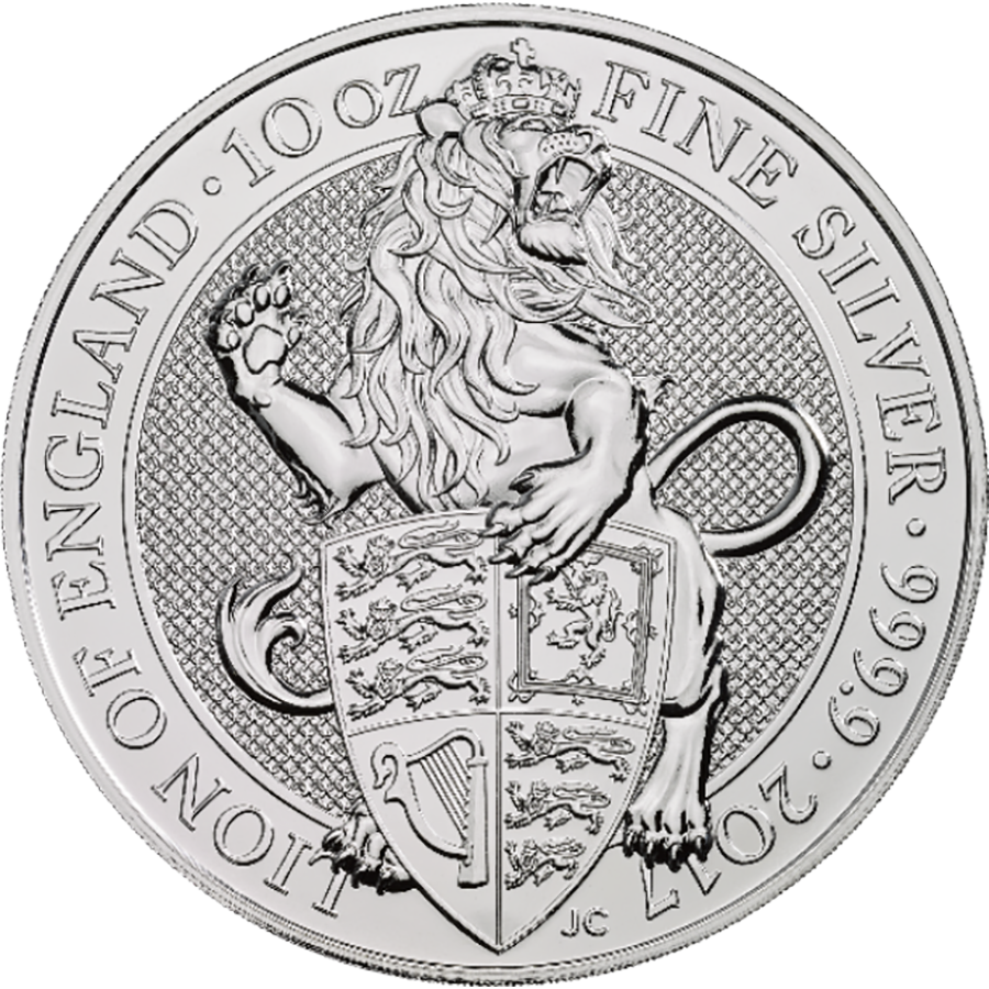 Pre-Owned 2017 UK Queen's Beasts The Lion 10oz Silver Coin - VAT Free