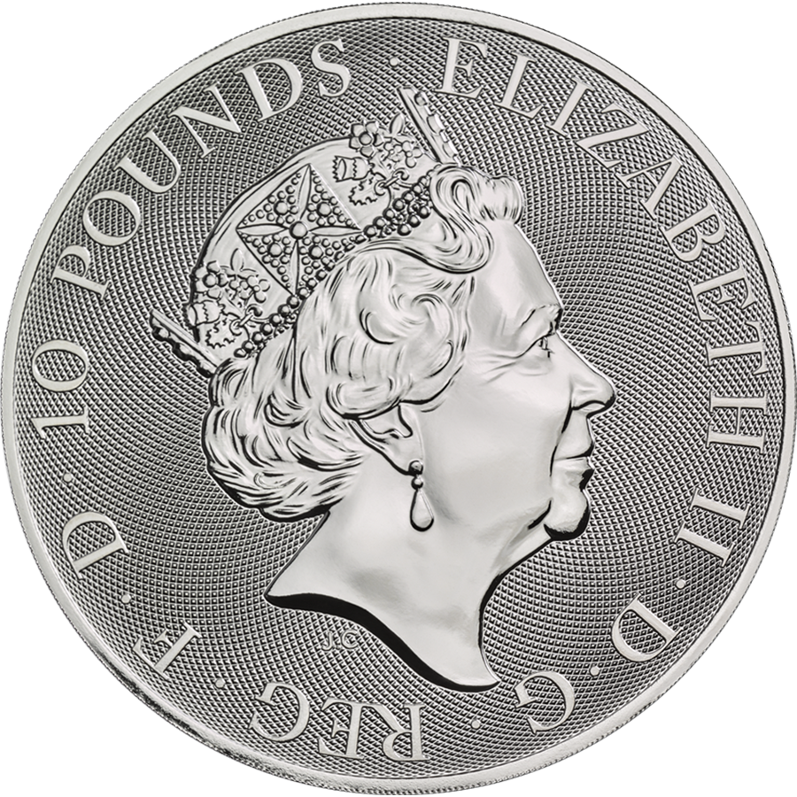 2020 UK Queen's Beasts The Falcon of the Plantagenets 10oz Silver Coin (Image 2)
