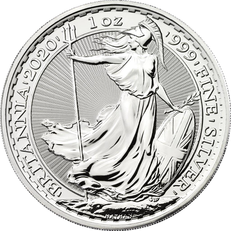 2020 UK Britannia 1oz Silver Coin (Image 1)