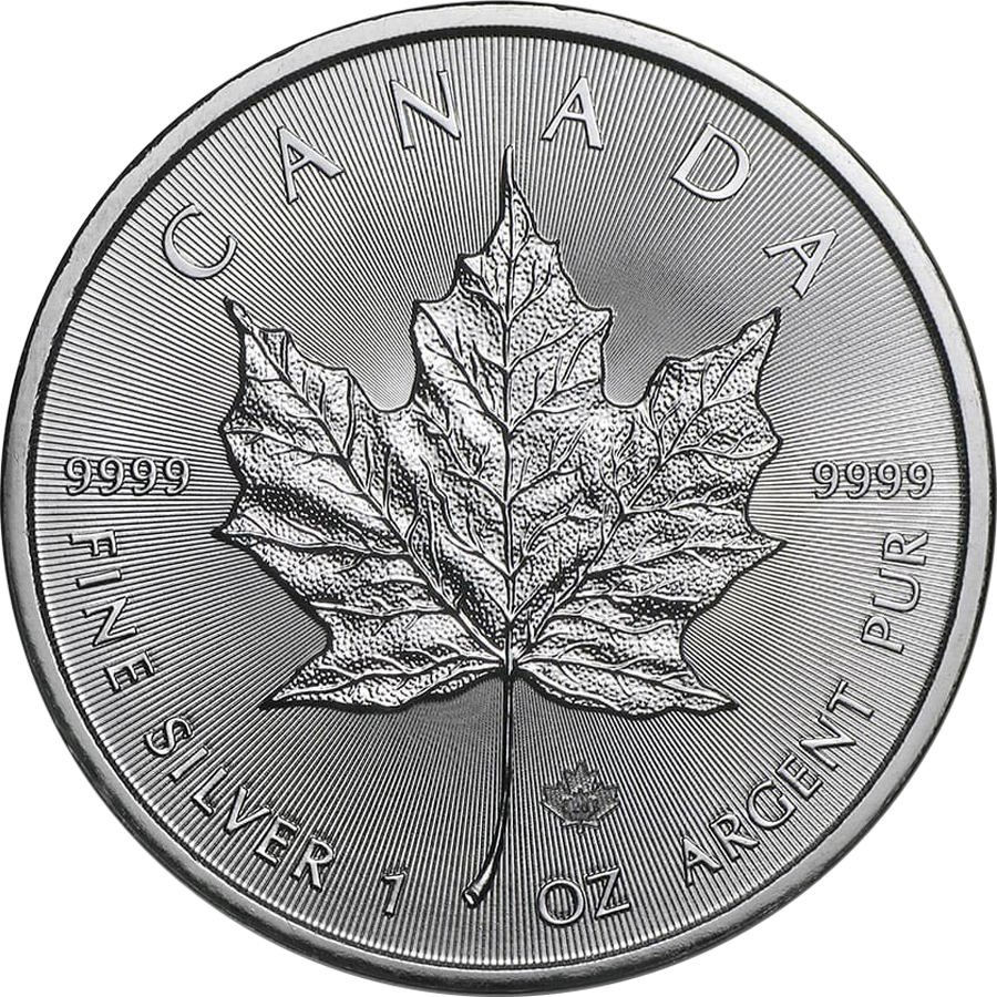 2020 Canadian Maple 1oz Silver Coin (Image 1)