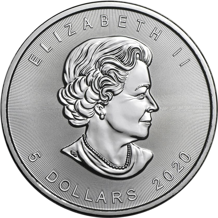 2020 Canadian Maple 1oz Silver Coin (Image 2)