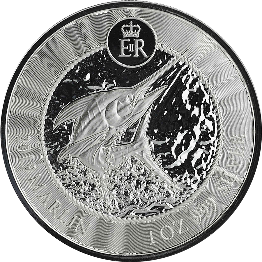 2019 Cayman Islands Marlin 1oz Silver Coin