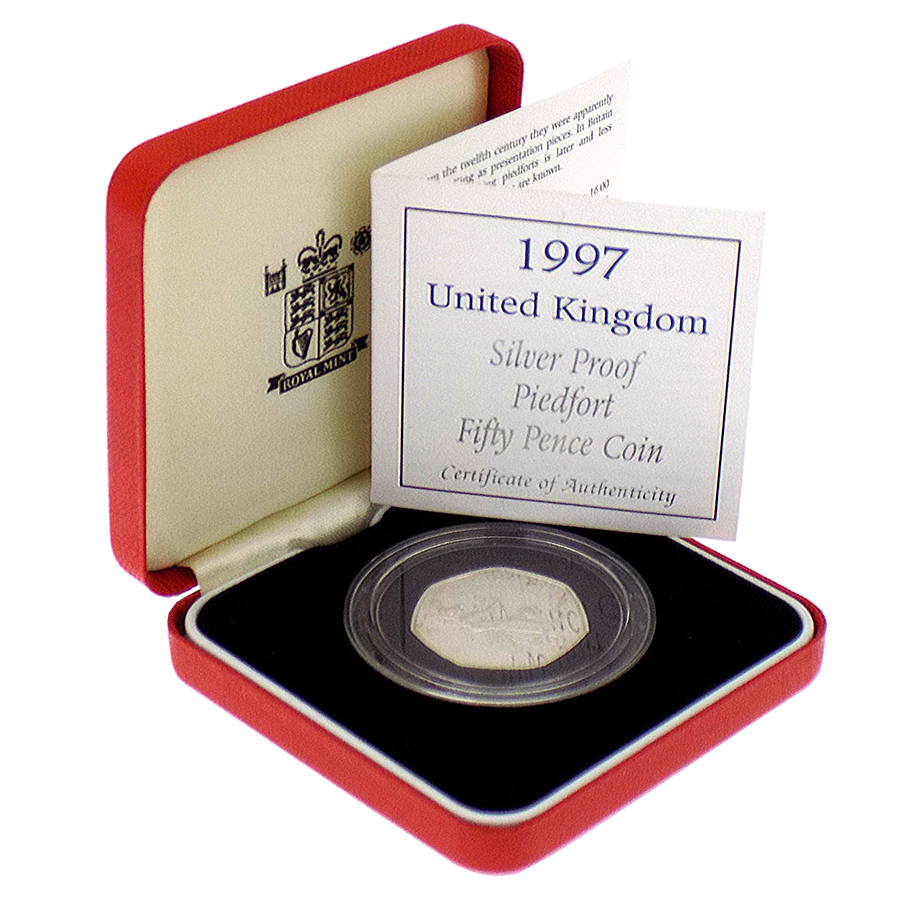 Pre-Owned 1997 UK Proof Piedfort Silver 50p Coin - VAT Free