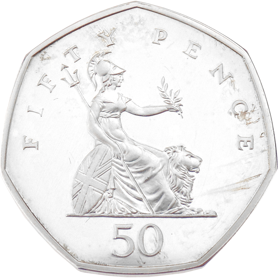 Pre-Owned 1997 UK Proof Piedfort Silver 50p Coin - VAT Free (Image 2)