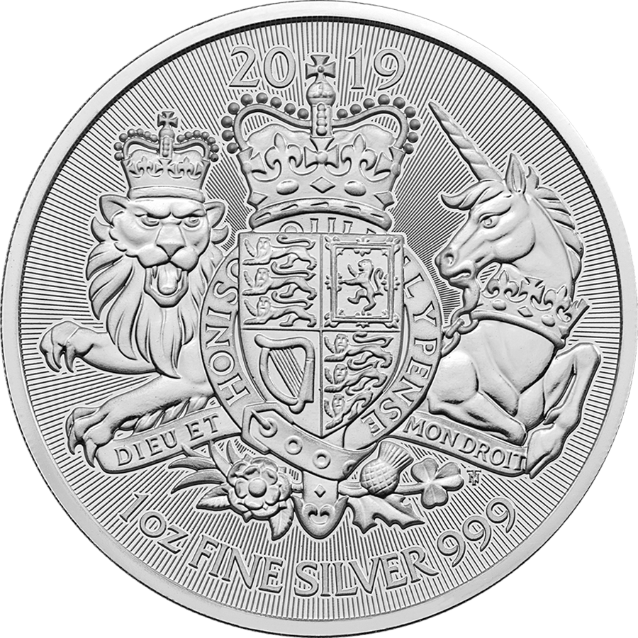 Pre-Owned 2019 UK Coat of Arms 1oz Silver Coin - VAT Free
